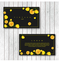 Set of vintage horizontal business cards template vector