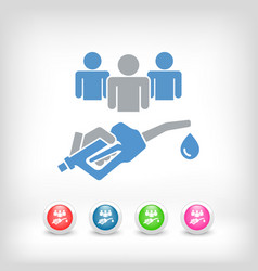 sharing fuel cost vector image