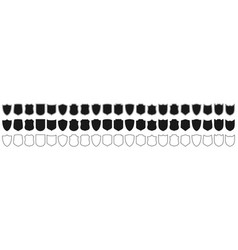 Shields set collection security shield icons vector