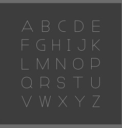 simple minimalistic font english alphabe vector image