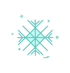 snow flakes icon design vector image