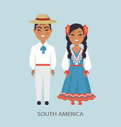 South america culture customs vector