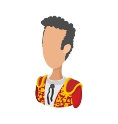 Spanish torero icon cartoon style vector