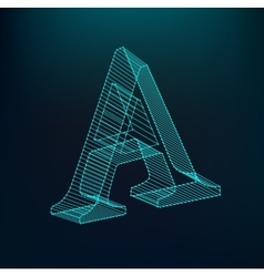 The letter A Polygonal letter Low poly model vector image