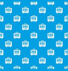 travel bag design pattern seamless blue vector image