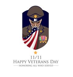 Veteran or patriot theme vector