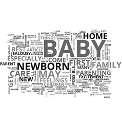 when your baby arrives text word cloud concept vector image