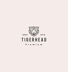 white tiger logo icon vector image