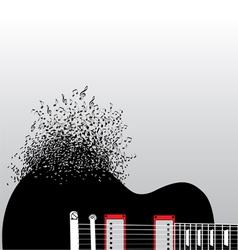 Guitar Notes Burst vector image
