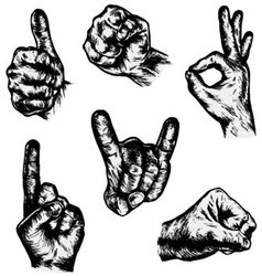 HANDS - Hand Drawn vector image