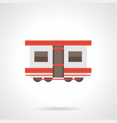 Passenger rail transportation flat icon vector