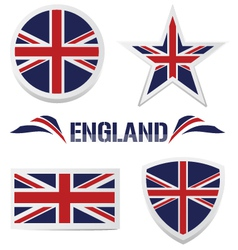set of british icons vector image vector image