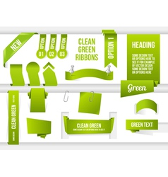Bundle of Green Web Elements vector image vector image