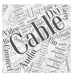 Hdtv cables word cloud concept vector