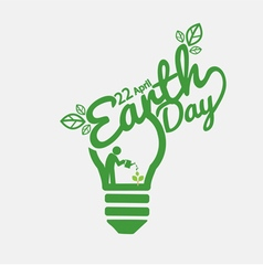 April 22nd Earth Day vector image vector image