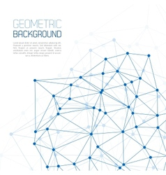 Blue Molecule And Communication Background vector image vector image