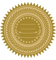 gold wreath seal vector image