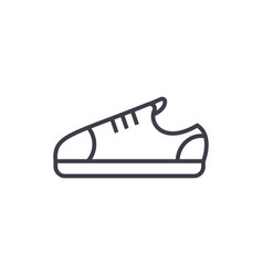 sneaker shoes line icon sign vector image