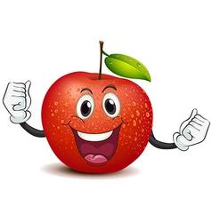 A smiling crunchy apple vector