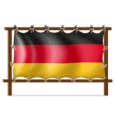 A wooden frame with a German flag vector image
