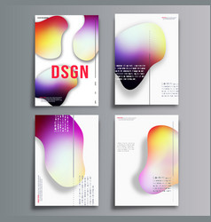 abstract cover minimal design set vector image