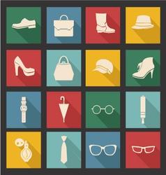 accessories-icon-set vector image