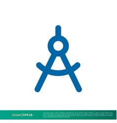 Accurate tool architecture compass icon logo vector
