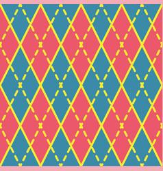 Argyle seamless pattern geometric rhombus vector