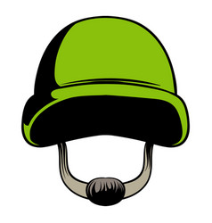 army helmet icon cartoon vector image