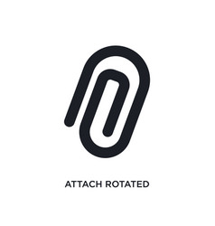 Attach rotated isolated icon simple element from vector