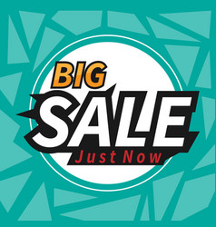 banner big sale just now polygon image vector image