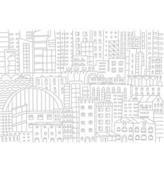 big city background texture skyscraper sketch vector image