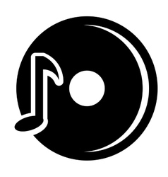 black dj disco with music note graphic vector image