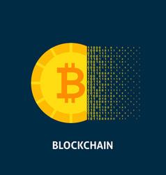 blockchain bitcoin concept vector image