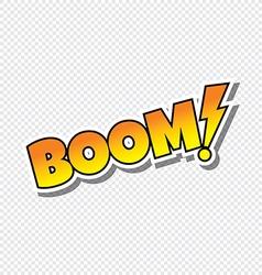 boom cartoon text sticker vector image