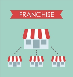 business concept franchise business vector image