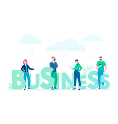 business - flat design style colorful vector image