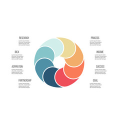 Business infographics pie chart with 8 sections vector
