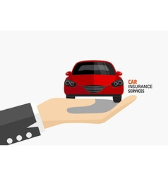 Car insurance business service concept of i vector image