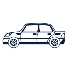 car vehicle symbol vector image