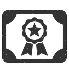 Certificate Icon Rubber Stamp vector