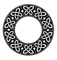 circular decorative border with celtic ornament vector image