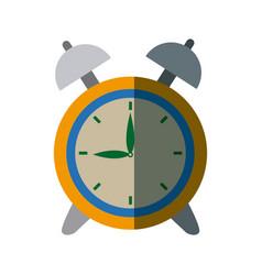 clock alarm back to school symbol vector image