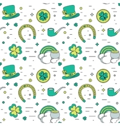 Color modern seamless background for Patricks Day vector image