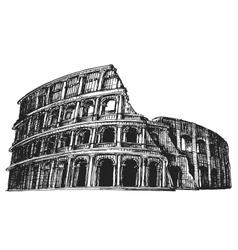 colosseum logo design template italy vector image