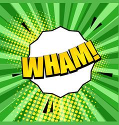 comic light wham wording template vector image