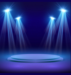 Concert stage with spot light lighting show vector