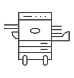Copier printer thin line icon multifunction laser vector