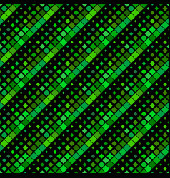 diagonal square pattern background - dark green vector image