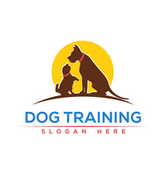 Dog training logo design vector